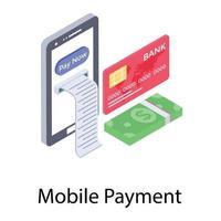fatura de pagamento online vetor