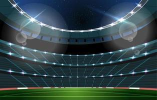 fundo do estádio de futebol à noite vetor