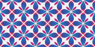 ilustração em vetor fundo gradiente de padrão geométrico de flor