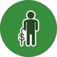 Ícone de vetor de pensão
