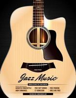 pôster de concerto de violão acústico desconectado vetor