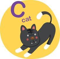 ilustração em vetor letra c-cat