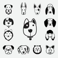 ilustração de vetor de ícone de cachorro