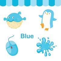 ilustração de vetor de grupo de cor azul isolada