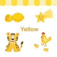 ilustração de vetor de grupo amarelo de cor isolada