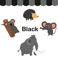 ilustração de vetor de grupo de cor preta isolada