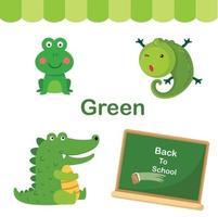 ilustração de vetor de grupo verde de cor isolada