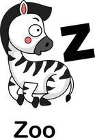 ilustração em vetor alfabeto letra z-zoo