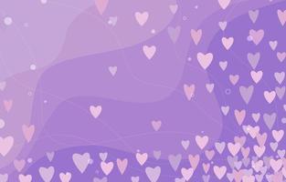 lindo fundo de coração roxo pastel vetor