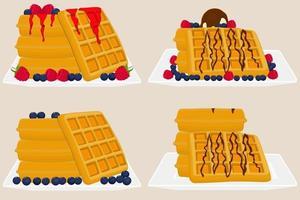 ilustração sobre tema sorvete em waffle com celular vetor
