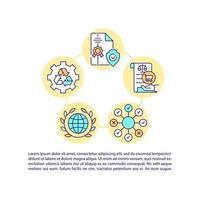 ícones de linha de conceito de energia de hidrogênio com texto. modelo de vetor de página ppt com espaço de cópia. folheto, revista, elemento de design de boletim informativo. ilustrações lineares de tecnologias de combustível em branco