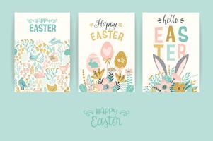 Feliz Páscoa. Modelos de vetor
