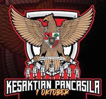 ilustração kesaktian garuda pancasila indonesia 1 de outubro vetor