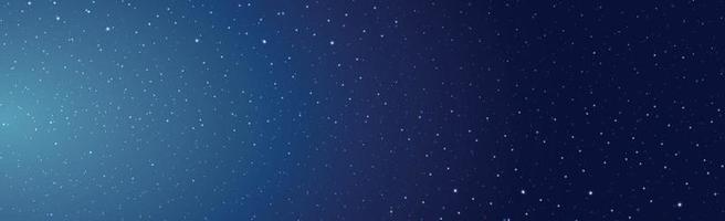 céu estrelado preto e azul com cometas voadores vetor