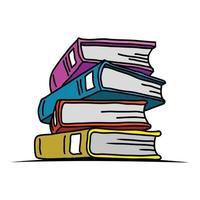 ilustração de livros. livros de desenhos animados. livros de vetor. vetor