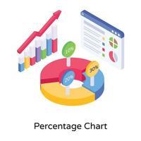 gráfico de barras de porcentagem vetor