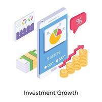 crescimento do investimento financeiro vetor
