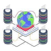 centros de dados globais vetor