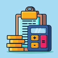ilustração de símbolo de conceito de plano de orçamento em estilo simples vetor