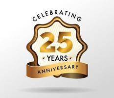 Logotipo de comemoração de aniversário de 25 anos. conjunto de logotipo de aniversários vetor