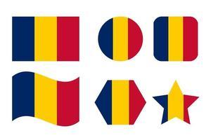 ilustração simples da bandeira do chad para o dia da independência ou eleição vetor