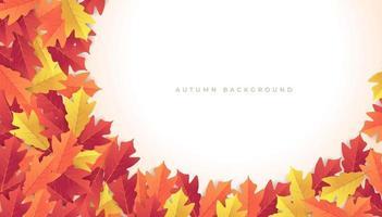 fundo de banner de folhas de outono coloridas. vetor