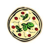 pizza em fundo branco vetor