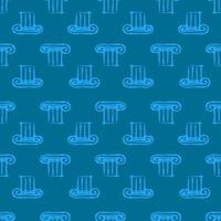 coluna grega. padrão sem emenda com elementos de arquitetura vetor