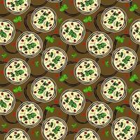 padrão sem emenda de pizza vetor