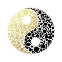 símbolo taijitu preto e branco yin yang em um fundo branco vetor