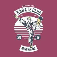 design de distintivo vintage do karate club vetor