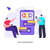 satisfação e feedback do usuário vetor