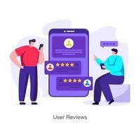 experiência das avaliações do usuário vetor