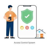 Sistema de controle de acesso vetor