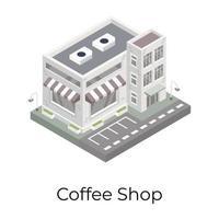 cafeteria e loja vetor