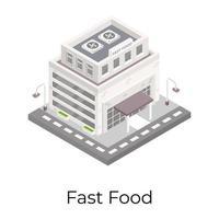 loja de fast food vetor