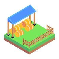 plantar fazenda de feno vetor