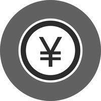 Ícone de vetor de ienes