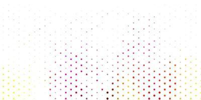 pano de fundo rosa claro, amarelo vector com pontos.