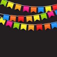 fundo de festa com ilustração vetorial de bandeiras vetor