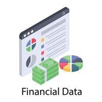 gráfico financeiro online vetor
