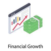 conceitos de crescimento financeiro vetor
