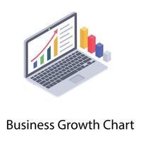 gráfico de crescimento de negócios vetor