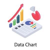 relatório gráfico de dados vetor