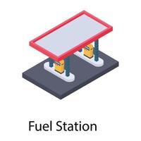 conceitos de posto de combustível vetor