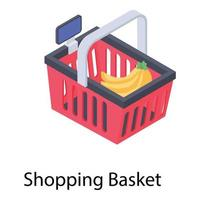 conceitos de cesta de compras vetor