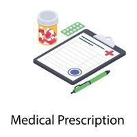 conceitos de prescrição médica vetor