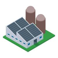 indústria de usinas de energia vetor