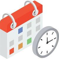 conceitos de calendário de eventos vetor