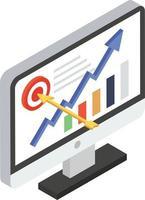 conceitos de analítica online vetor